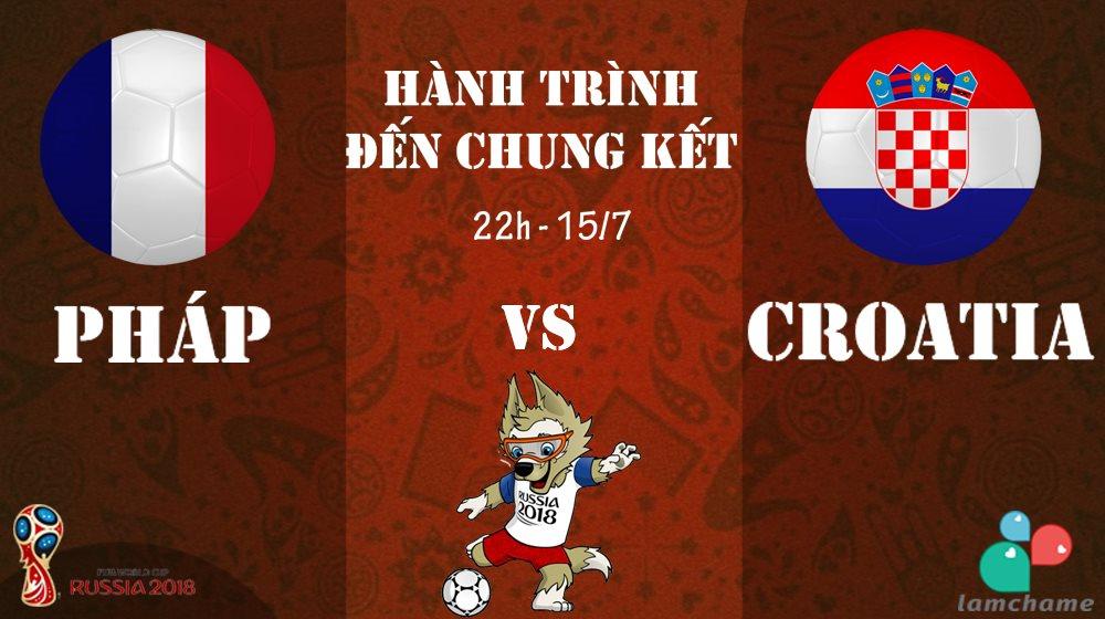 [Infographic] Hành trình tiến tới trận chung kết World Cup 2018 của 2 đội tuyển Pháp và Croatia