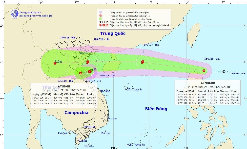 Dự báo thời tiết 17/7: Xuất hiện đồng thời hai cơn áp thấp nhiệt đới trên biển, cả nước mưa dông