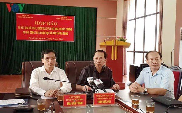 Dư luận bàng hoàng trước sai phạm trong kì thi THPT quốc gia 2018 ở Hà Giang