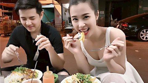 Ăn hàng ngoài phố cũng là một thú vui giản dị và vui vẻ với bất kỳ ai, không ngoại trừ sao Việt.