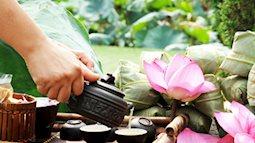 Để giữ được hương sen và màu nước của trà sen tươi cần phải làm gì?