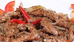 Món thịt bò rim tiêu thơm ngon cho bữa cơm ngày cuối tuần
