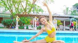 Cô gái trẻ giảm mỡ bụng hoàn hảo bằng những bài tập yoga đơn giản