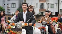 Hút hồn với hình ảnh cô dâu chú trẻ trong trang phục thập niên 80 diễu hành quanh Hà Nội