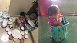 Cảnh dở khóc dở cười khi một mình trông con nhỏ rồi tranh thủ việc nhà: Các mẹ cứ yên tâm là mình không cô đơn nhé!