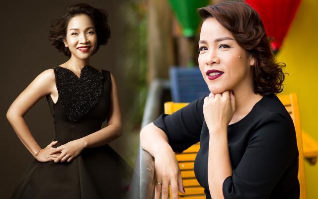 Hai chị em Diva Mỹ Linh (trái) và em gái Đỗ Mỹ Dung (phải).