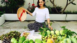 Khu vườn hoa trái ăn không hết của 'người đẹp Tây Đô' Việt Trinh