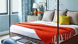 Phòng ngủ đa sắc với màu xanh chủ đạo ai cũng mê