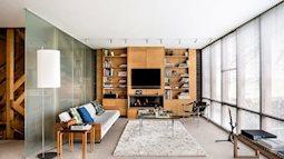 Làm mới căn nhà cũ bằng bức tường gỗ 'chanh sả'