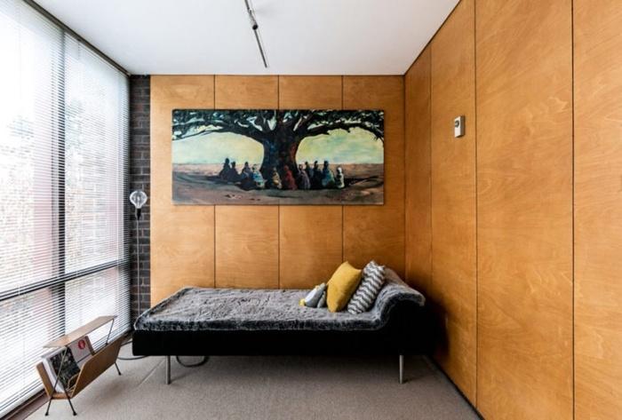 Căn hộ nhỏ mà đẹp rạng ngời với những mẫu tường gỗ