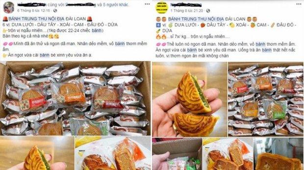 Bánh trung thu được quảng cáo là hàng nội địa Trung Quốc được rao bán tràn lan trên mạng xã hội.