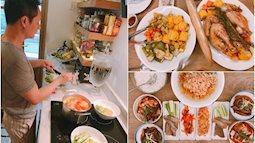 Chồng Phan Như Thảo thích vào bếp nấu ăn phục vụ vợ con, hình ảnh người chồng đáng mơ ước của chị em