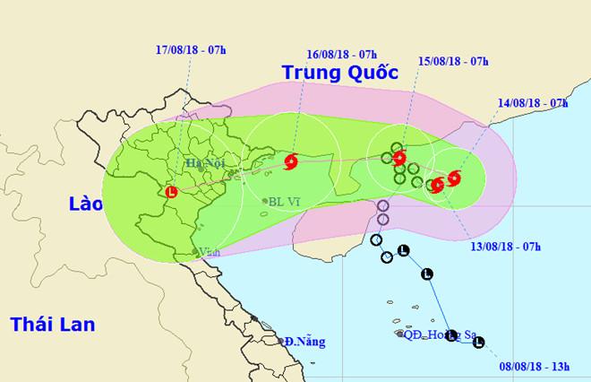 Tin nóng: Bão số 4 giật cấp 10 đổ bộ vào Quảng Ninh, Bắc Bộ sắp có mưa lớn
