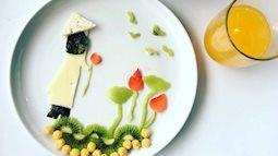 Mẹ Việt tại Pháp tái hiện cuộc sống của hai con lên đĩa đồ ăn