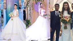 Những chiếc váy cưới đơn giản không kém phần thanh lịch của sao Việt