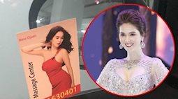 Hình ảnh của Ngọc Trinh được treo quảng cáo dịch vụ massage ở Dubai trái phép
