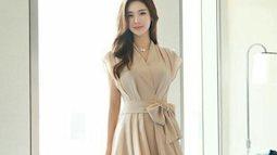 Thời trang mùa thu với váy thắt eo thanh lịch