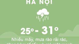 Thời tiết ngày 18/8: Hà Nội, Sài Gòn mưa dông và gió mạnh