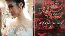 Thiệp cưới tông màu đỏ của hoa hồng làm chủ đạo chính là thiệp cưới của Lan Khuê và người yêu đại gia