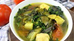 Món ngon ngày mưa:  canh cà tím thịt ba chỉ ấm nóng, bổ dưỡng