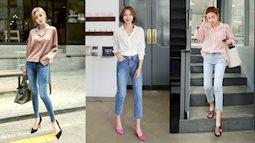 Cách phối quần jean chuẩn giúp nàng vừa diện được tới công sở hay đi dã ngoại cũng vô cùng chất!