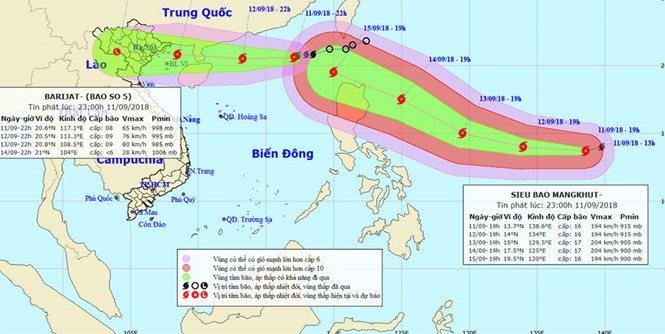 Các địa phương đang ứng phó bão số 5 và siêu bão Mangkhut, cha mẹ cần chú ý