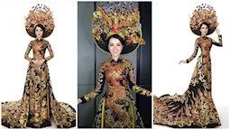 Thể hiện xuất sắc, Thúy Vi đã giành được danh hiệu Á quân trong phần thi trang phục truyền thống tại Miss Asia Pacific International