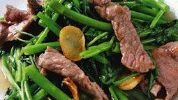 Đổi gió với món thịt bò xào rau muống cho bữa cơm nhanh ngày thứ 6