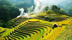 Mê đắm vẻ đẹp như tranh vẽ của ruộng bậc thang mùa lúa chín