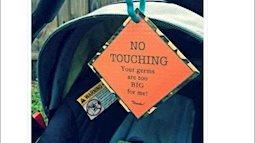 """Tranh cãi cha mẹ dán nhãn """"Không chạm"""" vào con nhỏ"""