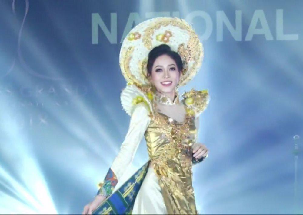 Á hậu Phương Nga đốn tim cư dân mạng với quốc phục 'Ngũ phụng tề phi' tại Miss Grand International 2018