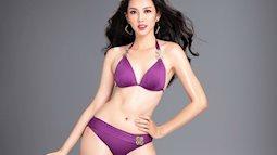 Người đẹp Thùy Tiên với bikini sắc tím quyến rũ khiến cộng đồng xuýt xoa dù chưa thi Miss International 2018