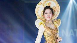 Đúng như dự đoán, áo dài rực rỡ của á hậu Phương Nga là 1 trong 10 bộ trang phục truyền thống được bình chọn nhiều nhất Miss Grand 2018