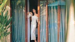 Siêu mẫu Trang Lạ đẹp hết chỗ chê trong trang phục trắng tại Bali thơ mộng
