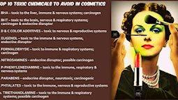 Mua mỹ phẩm đọc kỹ thành phần xem có chất gây ung thư trong danh sách này không nhé
