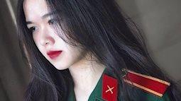 Nữ sinh trường quân đội với vẻ đẹp như hot girl người người điên đảo