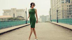 Hoa hậu Huỳnh Yến Trinh bỗng xuất hiện với diện mạo cổ điển tạo dáng bên cầu