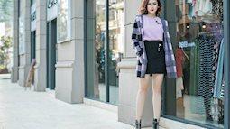 Mix đồ để chân váy mùa đông không quê mùa và lôi thôi