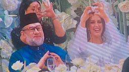 Ngắm ảnh cưới như cổ tích của quốc vương Malaysia với cô dâu đến từ xứ sở bạch dương