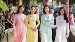 Hiếm có đám cưới nào mà toàn phù dâu khủng như của á hậu Thanh Tú
