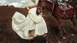 Kim Tuyến hóa mỹ nữ thảo nguyên trong bộ ảnh mới