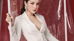 Phương Trinh Jolie khoe khéo vòng 1 với trang phục cưới tinh tươm
