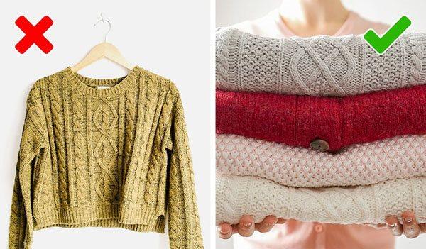 Mẹo kéo dài tuổi thọ cho những chiếc áo len ấm áp