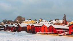 Sắc màu giáng sinh trên quê hương của ông già Noel