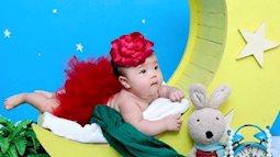 Cùng ngắm tiểu thư 5 tháng tuổi của Quế Ngọc Hải đáng yêu cực kỳ