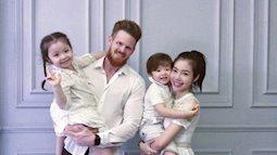 Cuối cùng người chồng soái ca ngoại quốc của Elly Trần cũng xuất hiện