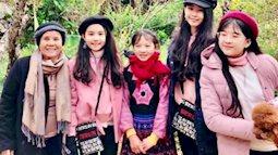 """Con gái """"Lọ Lem"""" và """"Hạt Dẻ"""" của MC Quyền Linh đẹp như hoa hậu nhí ở TâY Bắc"""