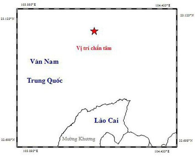 Động đất gần biên giới Việt Nam - Trung Quốc