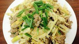Măng xào đưa cơm lại giảm cân cho bữa ăn sau Tết