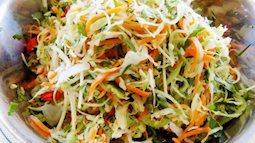 Cách muối dưa bắp cải, rau cần ngon tuyệt chống ngán sau Tết